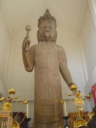 画像:木造立木観音菩薩像