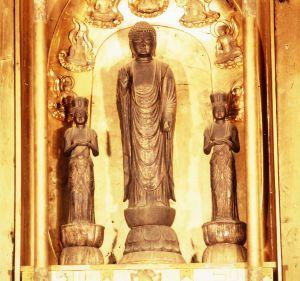 画像:銅造阿弥陀如来三尊像
