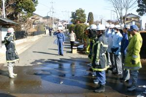 画像:善慶寺での防災訓練のようす1