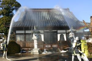 画像:善慶寺での防災訓練のようす2