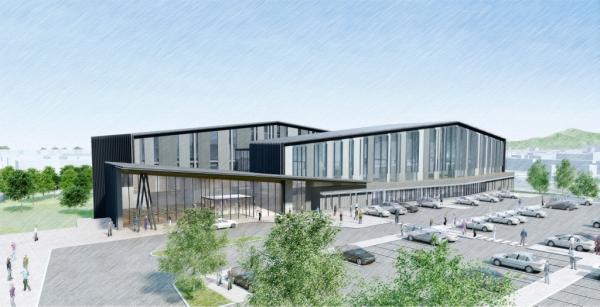 『新庁舎外観パース』の画像