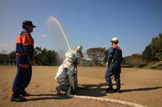 『散水訓練』の画像