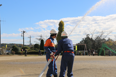 『散水訓練(消防団)』の画像