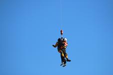 『【北小】救出訓練(防災ヘリ)』の画像