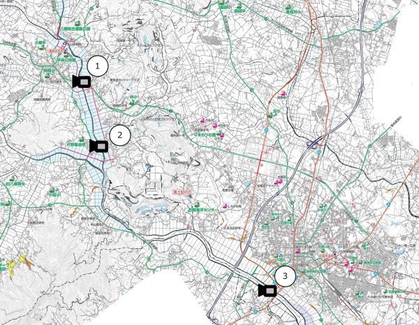 『河川監視カメラ位置図』の画像