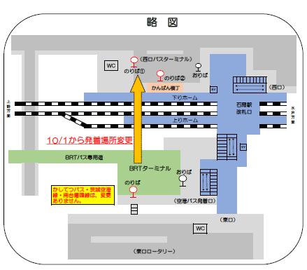 『石岡市バスターミナル位置図』の画像