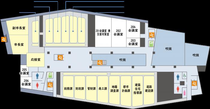 『新庁舎2階』の画像