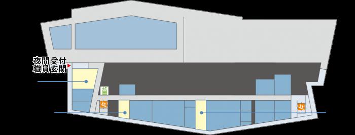 『新庁舎地下1階』の画像