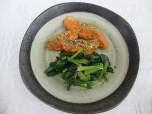『鮭の辛味ソース』の画像