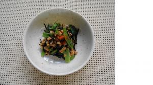 『小松菜とひじきの納豆和え』の画像